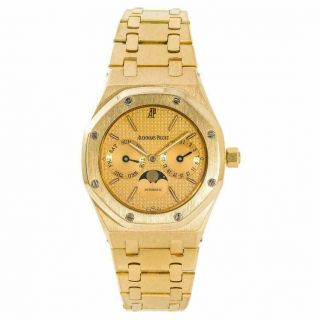 Audemars Piguet Royal Oak 25594.  Ba.  0.  0477.  Ba.  01 Mens Automatic Watch 18k Yg 36mm