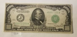 West Point Coins 1934 $1,  000 Federal Reserve Note