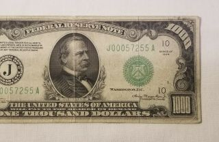 West Point Coins 1934 $1,  000 Federal Reserve Note ' J ' Kansas City FR - 2211 - J 4
