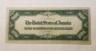 West Point Coins 1934 $1,  000 Federal Reserve Note ' J ' Kansas City FR - 2211 - J 5