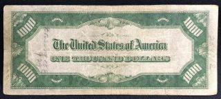 1934 One Thousand Dollar Bill Federal Reserve Note $1000 5