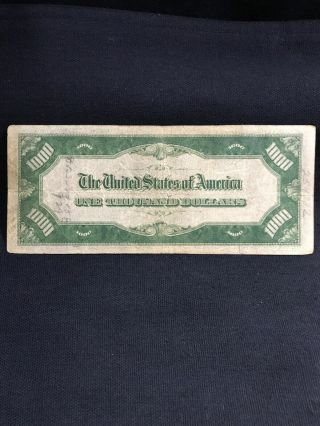 1934 One Thousand Dollar Bill Federal Reserve Note $1000 6