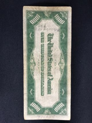 1934 One Thousand Dollar Bill Federal Reserve Note $1000 8