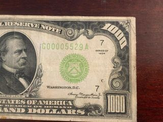 1934 1000 Dollar Note From Federal Bank Of Chicago 3