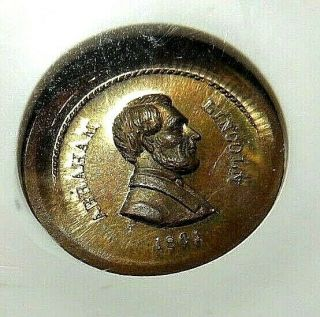 Extremely Rare - Lincoln - Pcwt & Political Campaign Medal - Rarity 10 - Nr