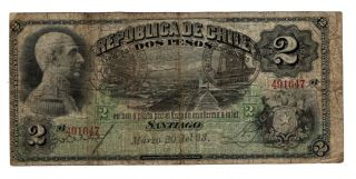 Chile 2 Pesos Dated 20th March 1893,  P12 Afine