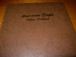 Silver Eagles 34 Uncirculated With Book Some With Light Hue