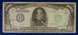 1934 $1000 St.  Louis Federal Reserve Currency Banknote