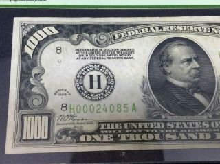 1928 $1,  000 dollars Federal Reserve Note PCGS 40 Extremely Fine 5