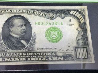 1928 $1,  000 dollars Federal Reserve Note PCGS 40 Extremely Fine 6