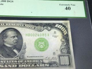 1928 $1,  000 dollars Federal Reserve Note PCGS 40 Extremely Fine 8