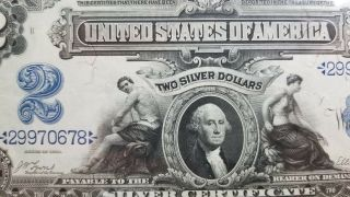 Series 1899 $2 Silver Certificate Pmg 55 Choice Fr 249 905 - 7