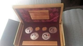 2008 Bejiing Olympic Ssries I Gold & Silver Set 6 Proof Coins Case