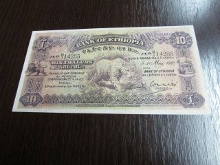 Ethiopia 10 Thalers 1932 Great Note,  Grade Xf