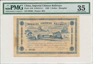 Imperial Chinese Railways China $1 1899 S/no 80x80 Pmg Ef 35
