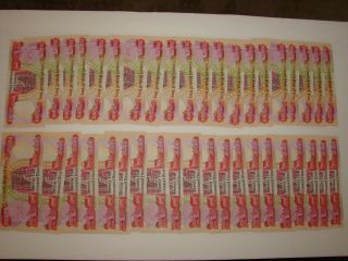 One Million Iraqi Dinar 40 X 25000 Uncirculated Crisp 1,  000,  000.  Iraq