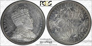 Straits Settlements $1 Dollar 1903 Ms61 Pcgs Silver Km 33 Proof Like Incuse B