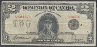 1923 Dominion Of Canada 2 Dollars Bank Note Saunders Black Seal