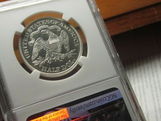 Proof 1881 Seated Liberty Half Ngc Pr - 64cameo A True Work Of Art