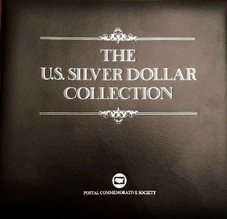 Complete 35 Morgan,  Peace Silver Dollar/stamp Set Us Postal Society - Best On Ebay