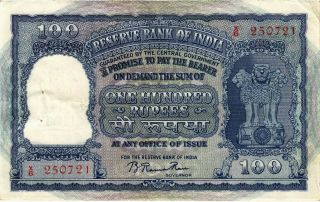 India 100 Rupees Nd