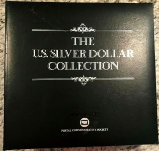 Good Quality Complete 35 Morgan,  Peace Silver Dollar/stamp Set Us Postal Society