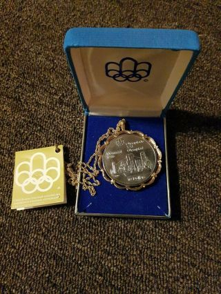 1973 Canada 10 Dollars 1976 Montreal Olympics Silver Coin And Necklace