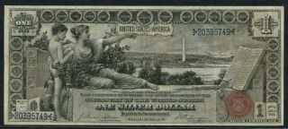 """Fr224 $1 1896 Silver Certificate """" Education """" Note Choice Vf - Xf Hw3892"""