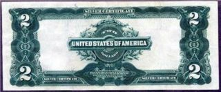 1899 $2 Silver Certificate ( (stunning))  Appears Near Uncirculated