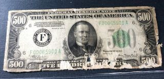 1934 $500 Federal Reserve Note Low Grade &