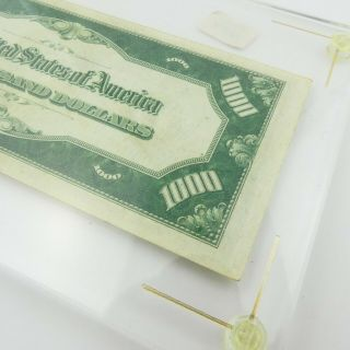 1934 F $1000 U.  S Bill Federal Reserve Note Low Serial Number Cond. 10