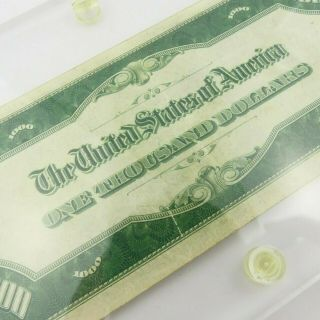 1934 F $1000 U.  S Bill Federal Reserve Note Low Serial Number Cond. 11