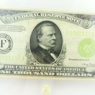 1934 F $1000 U.  S Bill Federal Reserve Note Low Serial Number Cond. 3