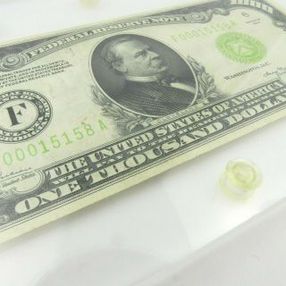 1934 F $1000 U.  S Bill Federal Reserve Note Low Serial Number Cond. 5