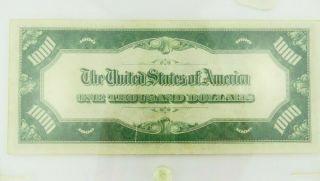 1934 F $1000 U.  S Bill Federal Reserve Note Low Serial Number Cond. 7