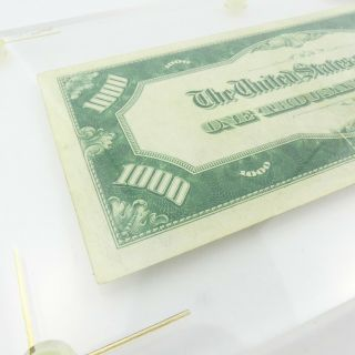 1934 F $1000 U.  S Bill Federal Reserve Note Low Serial Number Cond. 8