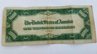 1000 ONE THOUSAND DOLLAR BILL OLD NOTE 2