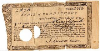 1782,  Rare,  African American Soldier,  Lyme,  Revolutionary War Pay Order,  Signed