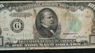 1934 ONE THOUSAND DOLLAR FED RESERVE NOTE CHICAGO HIGHLY SOUGHT $1000 Bill 2