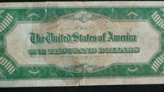 1934 ONE THOUSAND DOLLAR FED RESERVE NOTE CHICAGO HIGHLY SOUGHT $1000 Bill 3