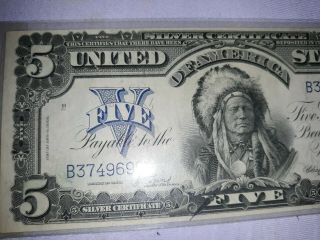 $5 Large Note 1899 Silver Certificate