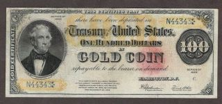 1922 $100 Gold Note,  Fr1215,  Vf,  Faded Seal