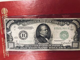 1934 1000 Federal Reserve Note