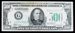 1934 A Usa $500 Chicago Federal Reserve Note Fr 2202 - G