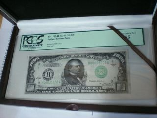 $1000 Dollar Federal Reserve Note Fr 2212 - H 1934 - A
