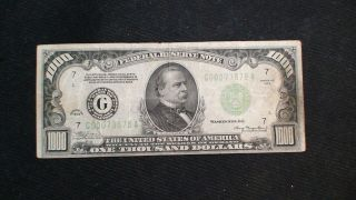1934 One Thousand Dollar Federal Reserve Note Vf $500 Bill Starts At 99 Cents