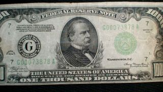1934 ONE THOUSAND Dollar Federal Reserve Note VF $500 Bill Starts At 99 Cents 2
