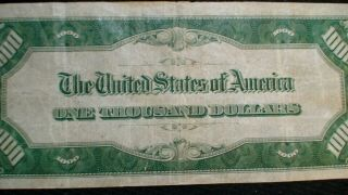1934 ONE THOUSAND Dollar Federal Reserve Note VF $500 Bill Starts At 99 Cents 3