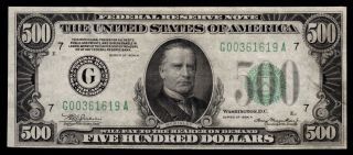 Awsome Fr.  2202 - G 1934 - A $500 Five Hundred Dollars Frn Federal Reserve Note
