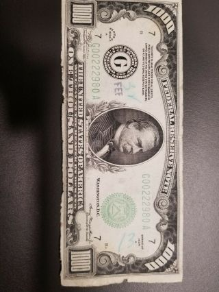 1934a $1000 Federal Reserve Note